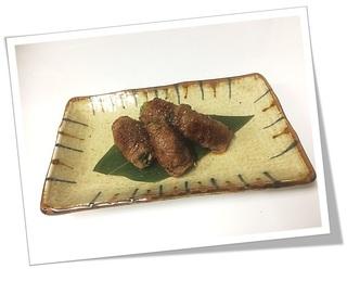 九条葱の牛肉巻き.JPG